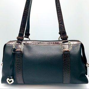 Brighton 2tone pebbled croc embossed leather purse